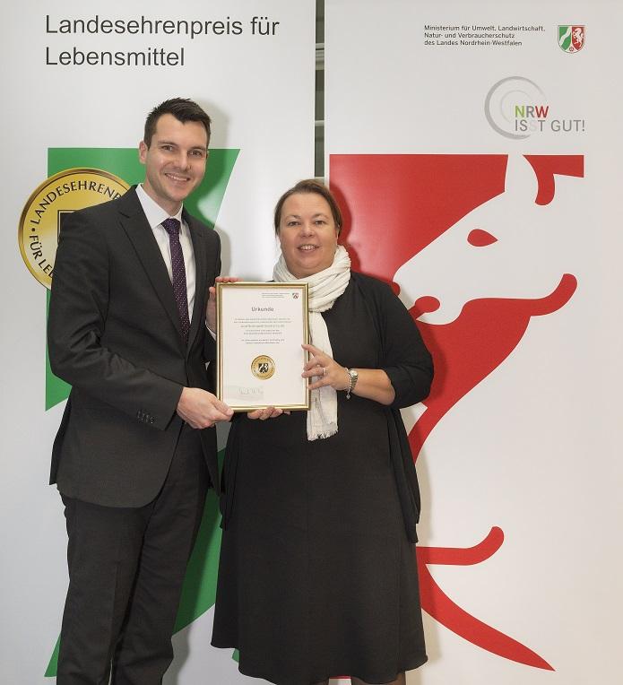 Erneute Auszeichnung für Brüninghoff – Landesehrenpreis für Lebensmittel NRW