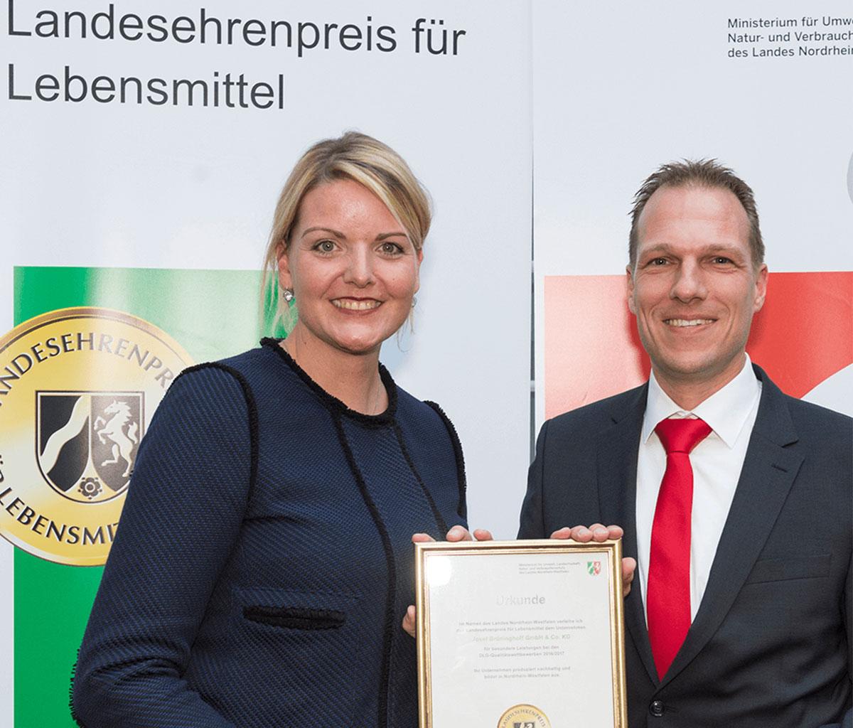 """""""Landesehrenpreis für Lebensmittel 2017"""""""